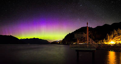 Terminal Photograph - Aurora Borealis Near Vancouver by Alexis Birkill