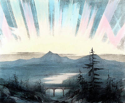 Ejecting Photograph - Aurora Borealis Or Northern Lights by Universal History Archive/uig