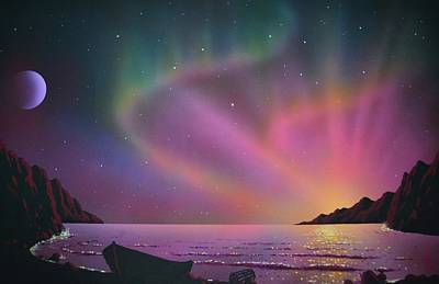 Aurora Borealis With Lobster Cage Original