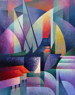 Ballard Painting - Aurora Bridge by Spielarts Prints