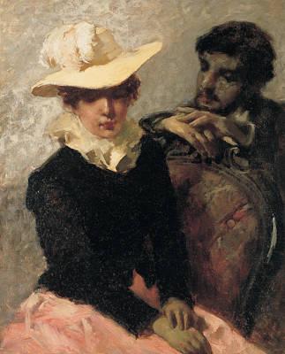 Foulard Painting - Aurora by Gaetano Previati