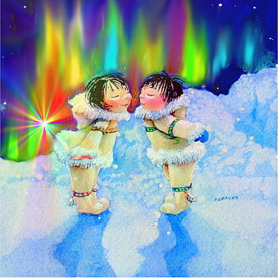 Aurora Kisses Original by Hanne Lore Koehler
