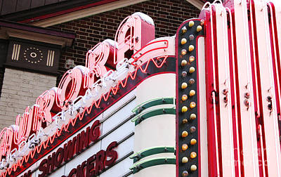 Photograph - Aurora Theater Marquee by Tom Brickhouse