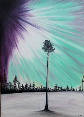 Aurora-oil Painting Art Print by Rejeena Niaz