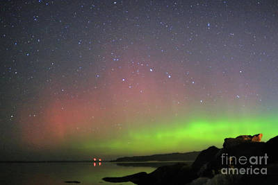 Photograph - Aurora Over Georgian Bay by Charline Xia