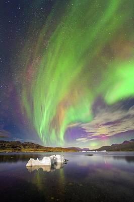 Astrophysical Photograph - Aurora Over Iceberg Greenland by Juan Carlos Casado (starryearth.com)