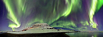 Photograph - Aurora Panorama by By Frank Olsen, Norway