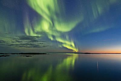 Aurora Borealis Photograph - Aurora Sunset by Frank Olsen