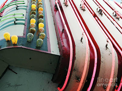 Photograph - Aurora Theater Marquee - Detail by Tom Brickhouse