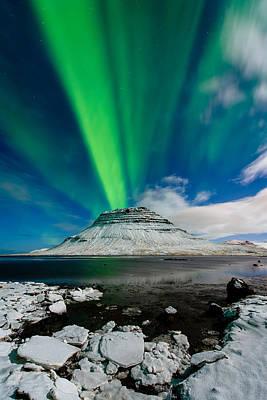 Photograph - Auroral Eruption by Michael Blanchette