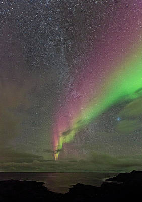Norway Photograph - Auroras And Milky Way IIi by Frank Olsen