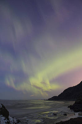 Auroras Over Cook Inlet Art Print by Tim Grams