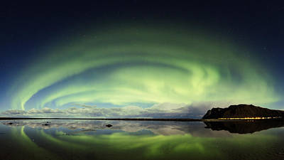 Norway Photograph - Auroras Panoramas by Frank Olsen
