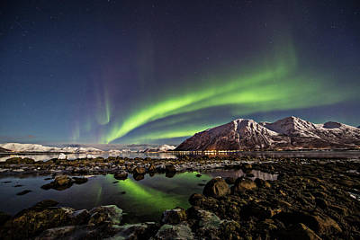Photograph - Auroras Reflected by By Frank Olsen, Norway
