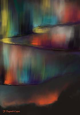 Abstract Digital Painting - Aurore by Francoise Dugourd-Caput