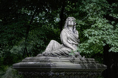 Weeping Photograph - Aurther Haserot Monument by Tom Mc Nemar