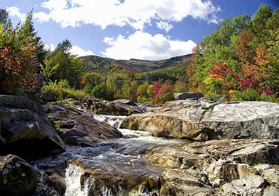 Photograph - Ausable River Entering Flume by David Seguin
