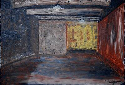 Gas Chamber Painting - Auschwits Gas Chamber. by Kenneth