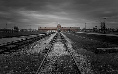 Prisons Photograph - Auschwitz-birkenau by Chris Fletcher