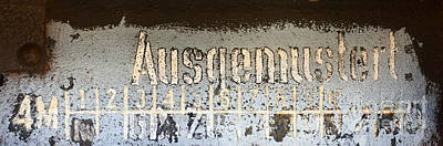 Photograph - Ausgemustert Sign On Nazi Railway Car by Les Palenik