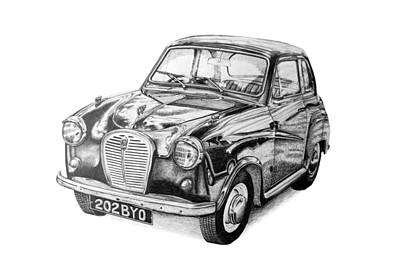 Austin Drawing - Austin A35 by Benjamin Self