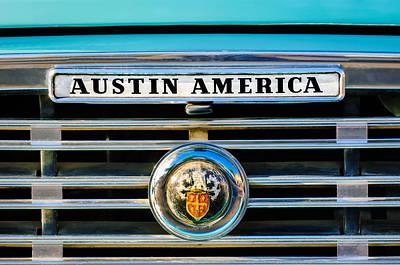 Photograph - Austin America Grille Emblem -0304c by Jill Reger