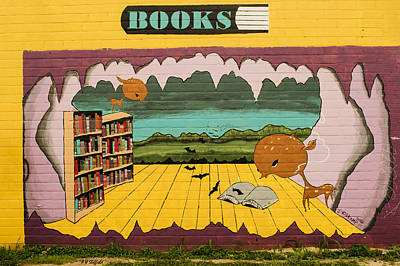 Photograph - Austin Books Mural by Allen Sheffield