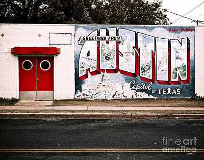 Mural Photograph - Austin Capital by Sonja Quintero