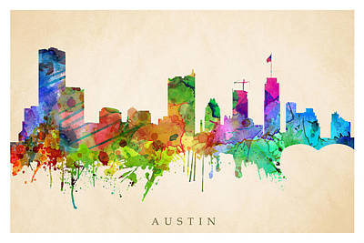 Photograph - Austin Cityscape by Steve Will