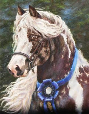Painting - Austin Gypsy Stallion by Denise Horne-Kaplan