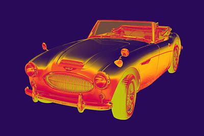 Austin Healey 300 Sports Car Pop Art Art Print by Keith Webber Jr