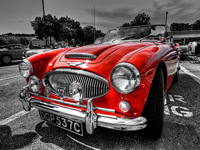Photograph - Austin Healey 3000 002 by Lance Vaughn