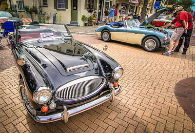 British Hot Rod Photograph - Austin Healey 3000 by Jeff Donald