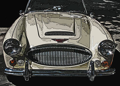 Photograph - Austin Healey 3000 Mk Ill by Samuel Sheats