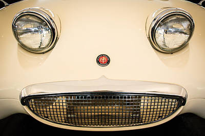 Photograph - Austin Healey Sprite - Bugeyed - Grille Emblem -0046c by Jill Reger