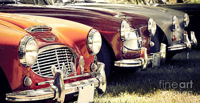 Photograph - Austin-healey Times Three by RicharD Murphy
