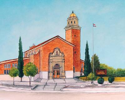 Brick Schools Painting - Austin High School by Candy Mayer