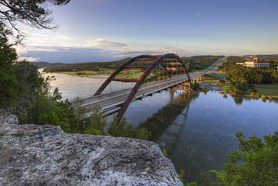 Austin Images - Pennybacker Bridge October Sunrise 2 Art Print by Rob Greebon