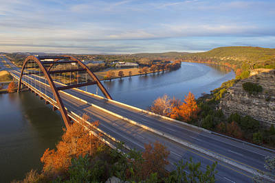 Austin Texas Photograph - Austin Images - Pennybacker Bridge Sunrise On A December Morning by Rob Greebon