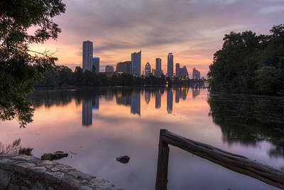Town Lake Park Photograph - Austin Images - The Austin Skyline From Lou Neff Point 3 by Rob Greebon