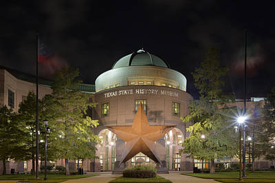 Austin Images - The Texas State History Museum Art Print by Rob Greebon