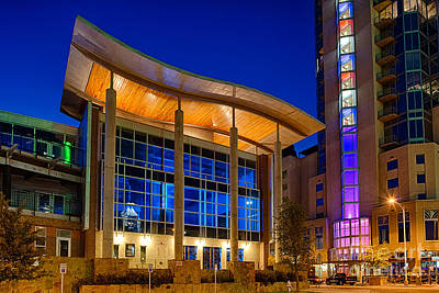 Cityscape Photograph - Austin Music Hall by Tod and Cynthia Grubbs