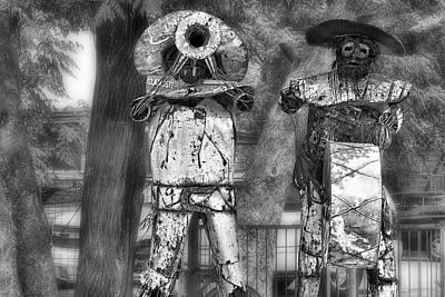 Austin Musical Duo 2 Art Print by Linda Phelps