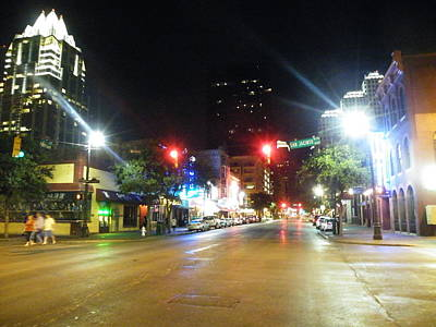 Photograph - Austin Nights Sixth Street Lights by The GYPSY