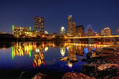 Art Print featuring the photograph Austin On The Rocks by Dave Files