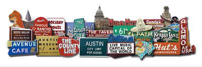 Austin City Limits Digital Art - Austin Photomontage by Carl Crum