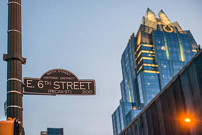 Austin Skyline Photograph - Austin Sixth Street  by Tod and Cynthia Grubbs