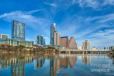 Austin Skyline Art Print by Tod and Cynthia Grubbs