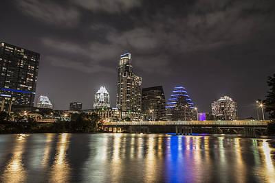 Austin Skyline At Night  Art Print