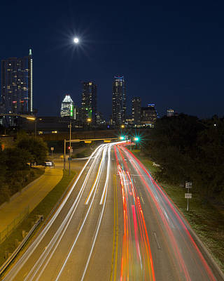 Austin Images - Downtown And Caesar Chavez 2 Art Print